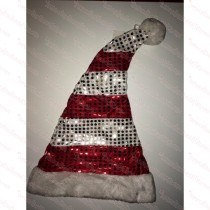 Red & White Sequin Santa Hat