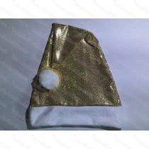 Premium Gold Sequin Santa Hat