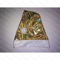 Premium Gold Color-Shifting Rainbow Santa Hat