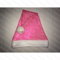 Hot Pink Sequin Santa Hat